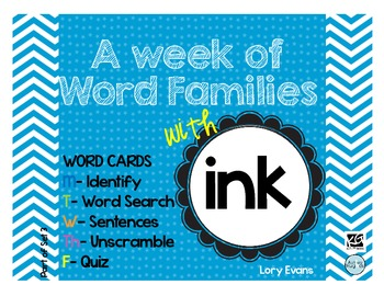 Word Family - ink family
