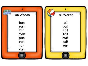 Word Family ipads