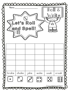 Word Family -oke -oak Word Work and Spelling Printables-freebie in preview