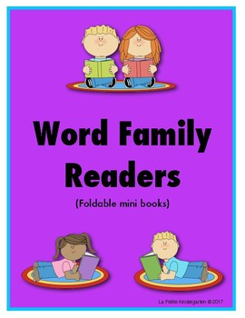 Word Family mini Book Readers