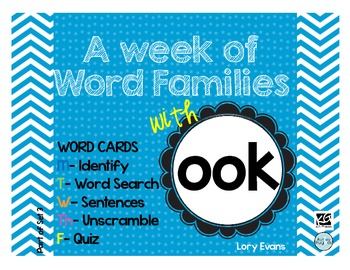 Word Family - ook family