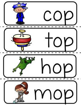 Word Family -op (Poster and Flash Cards)