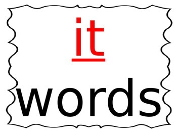 Word Family powerpoint -it