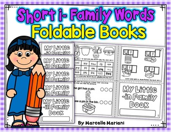 Word Family, short I ONE PAGE FOLD-ABLE BOOKS (5 Books)