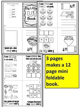 Word Family short U CVC FOLDABLE Mini Books (12 page mini books)