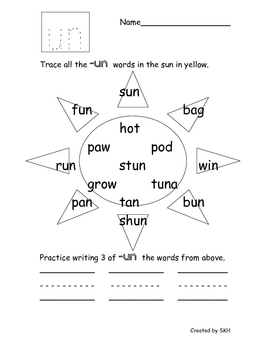 Word Family short /u/ Works... by Sydney Hulbert | Teachers Pay ...