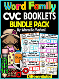 Word Family, short vowel 24 CVC Books: Name it, Build it, Write it