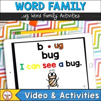 Word Family -ug (PowerPoint, Video, Flip Book)