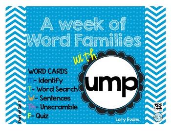 Word Family - ump family