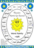 Word Family -un Phonics Merry-Go-Round Game