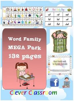 Word Family/CVC MEGA Pack - Literacy Centre Activities - 132pgs