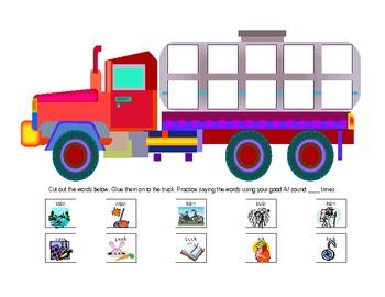 Word Final /K/ Truck Activity