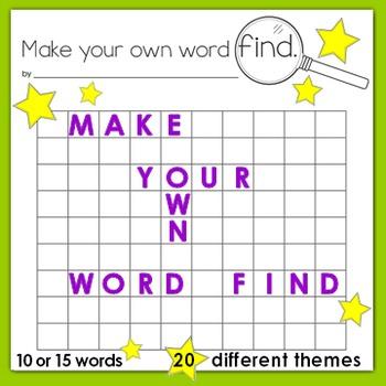 Word Find Spelling Center