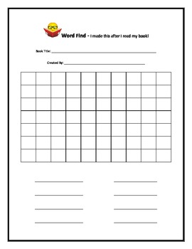 Word Find - Make your own and 'sight' words - Great Reading Centre Follow Up