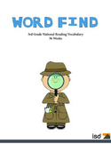 Word Find Packet - 36 Weeks - 3rd Grade Reading Vocabulary