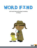 Word Find Packet - 36 Weeks - 4th Grade Reading Vocabulary