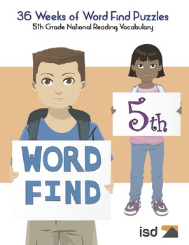 Word Find Packet - 36 Weeks - 5th Grade National Reading Vocabulary