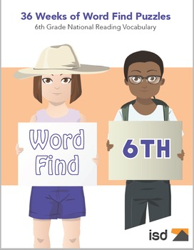 Word Find Packet - 36 Weeks - 6th Grade National Reading Vocabulary