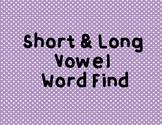 Word Find- Short vs Long Vowel (A)