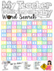 "Word Search ""My Teacher Is Having A Baby"" - USA Letter Size PDF"