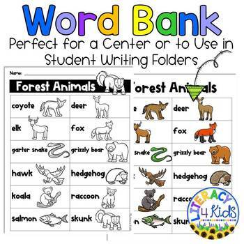 Word Find with a Purpose: Forest Animals