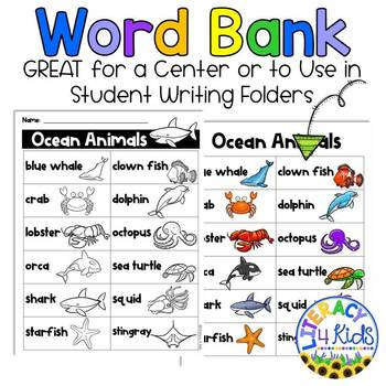 Word Find with a Purpose: Ocean Animals