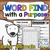 Word Find with a Purpose: Polar Animals