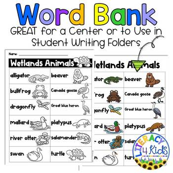Word Find with a Purpose: Wetlands Animals