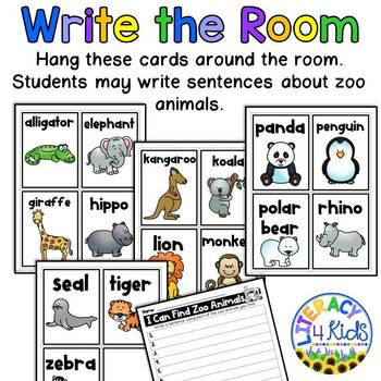 Word Find with a Purpose: Zoo Animals