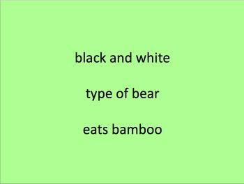 Animal Word Finding Activity with Bingo board