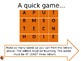 Word- Finding Game or Starter!