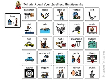 Oral - Written Personal Narrative Tool, Word Retreival, Expressive Language, ELL