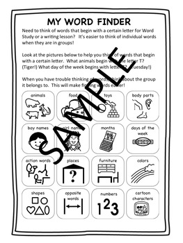Word Finding, Word Retrieval Deficits, Letter Study
