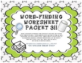 Word-Finding Worksheet Packet -3