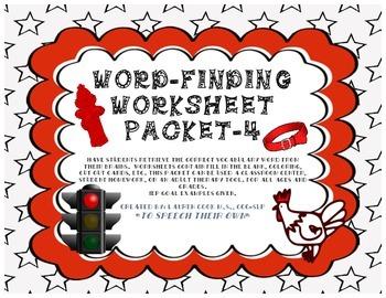 Word-Finding Worksheet Packet -4