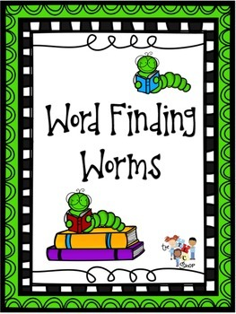 Word Finding Worms Set #1