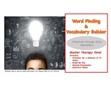 Word Finding and Vocabulary Builder Detective Theme