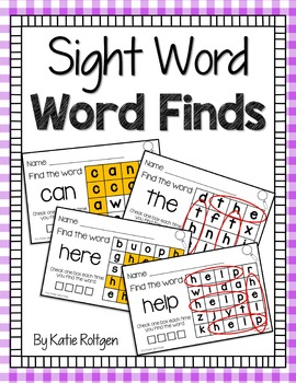 Word Finds {Sight Words}