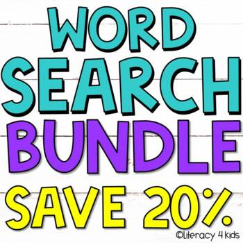 Word Finds with a Purpose: Animals 25% off BUNDLE