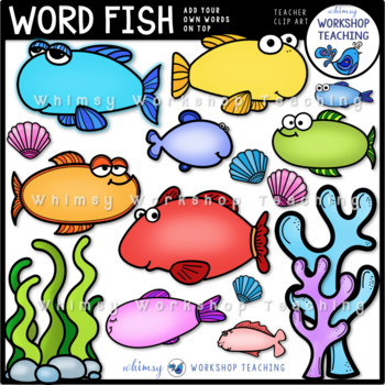 Word Fish Whimsical Designs for Word Cards