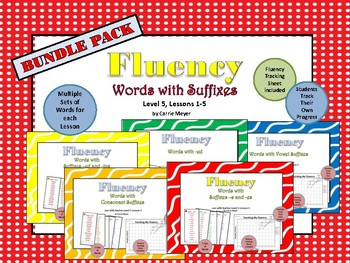 Word Fluency: Words with Suffixes: Level 5 Lessons 1-5 BUNDLE