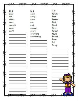 Word Folder ~ Alternative to a Word Wall