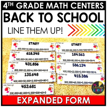 Expanded Form Back to School Game