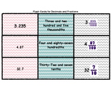 Word Form, Decimals and Fractions Card Sort in English