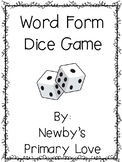 Word Form Dice Game
