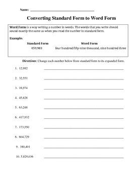 Word Form Practice Freebie