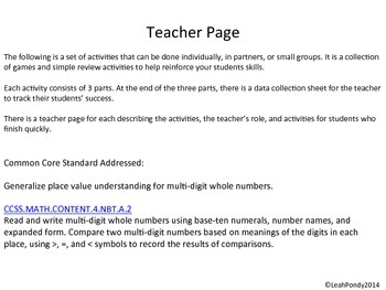 Word Form, Standard Form, Expanded Form Review and Practice