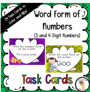 Word Form Task Cards