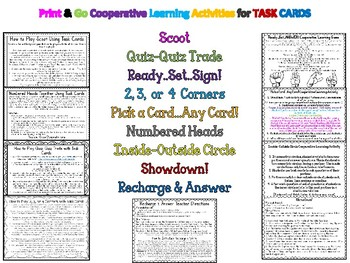 Word Form to Standard Form Task Cards PLUS Cooperative Learning Activities