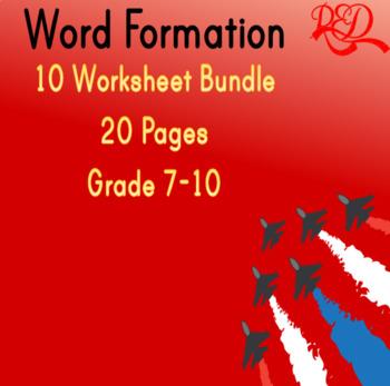 Word Formation Test Bundle *8 worksheets*